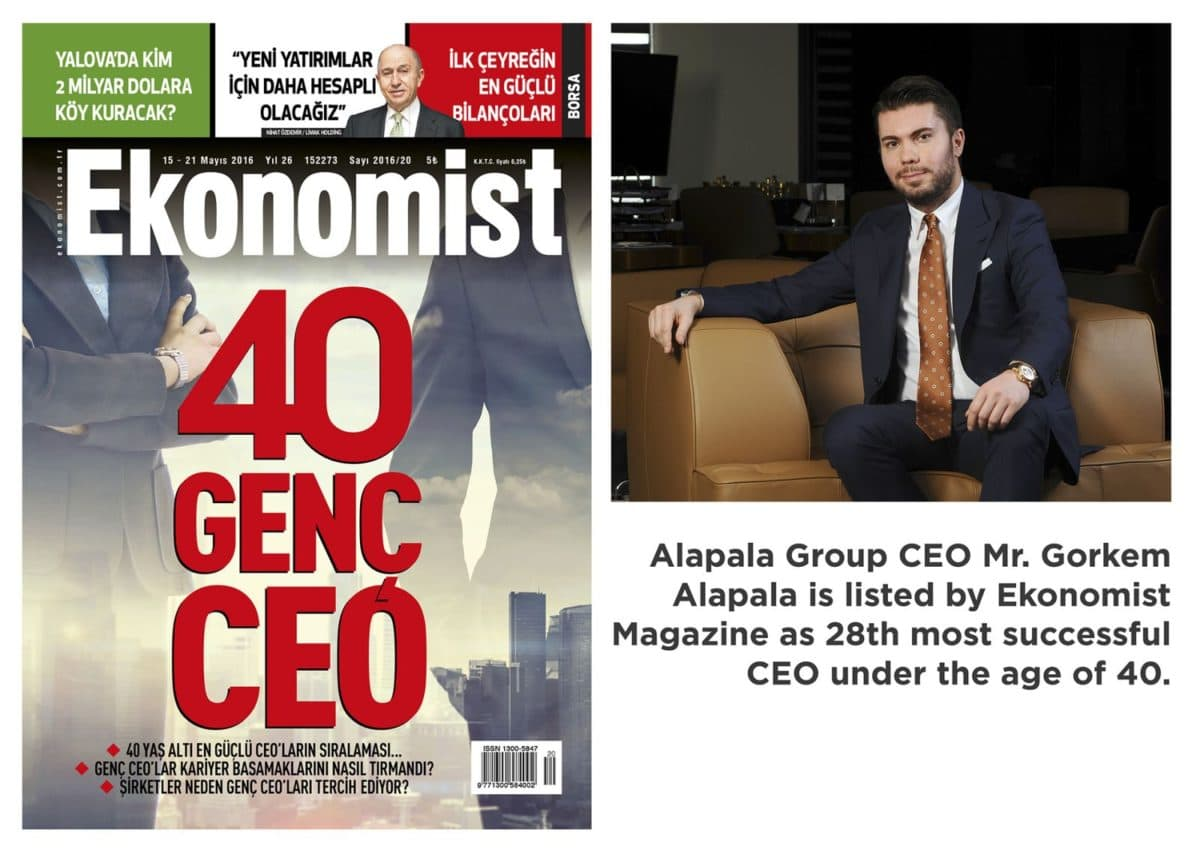 Görkem Alapala is Among the Most Successful 40 Young Ceos of Turkey