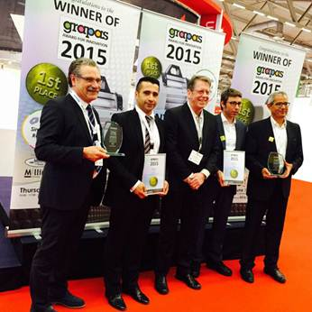 Alapala Won The First Prize of Grapas Innovation Awards 2015 in Cologne