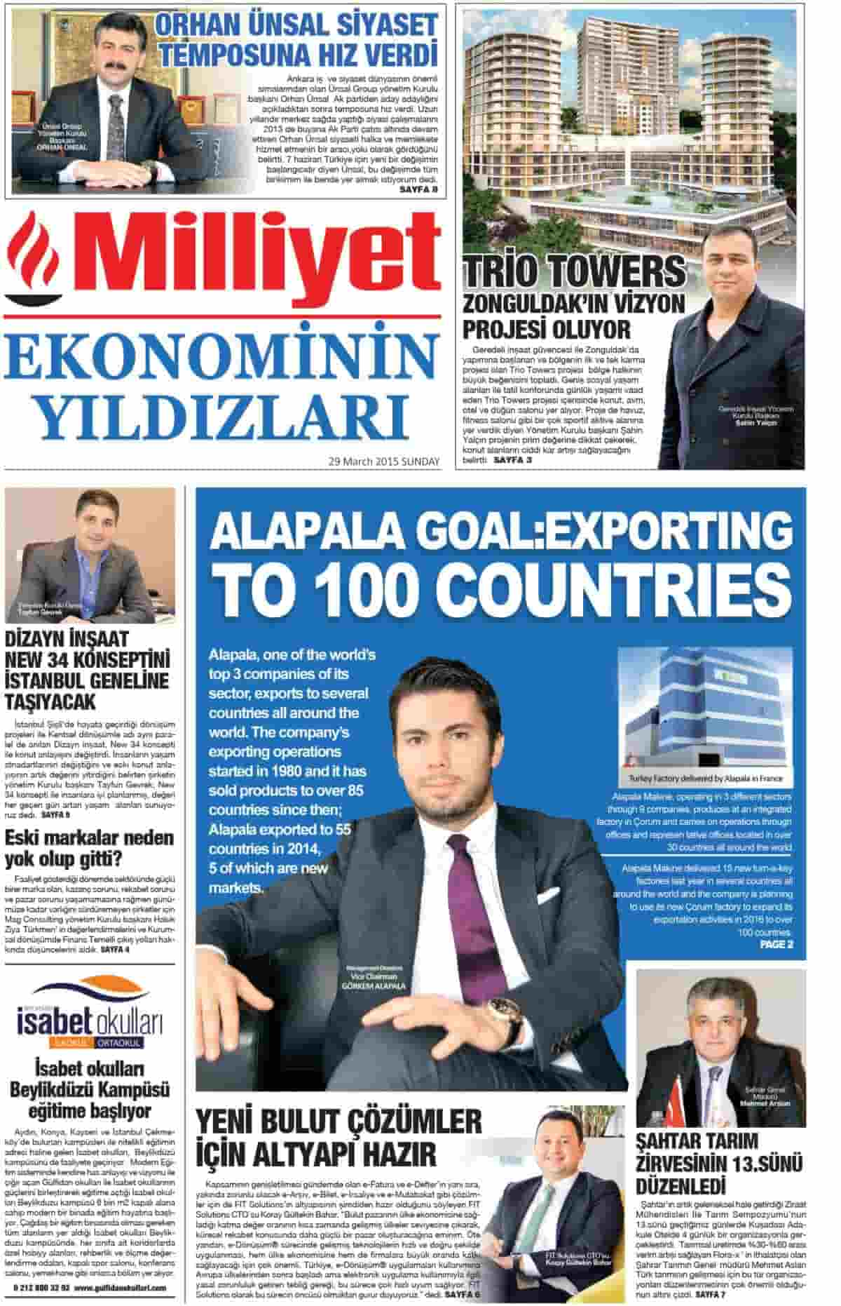 ALAPALA'S GOAL: EXPORTING TO 100 COUNTRIES