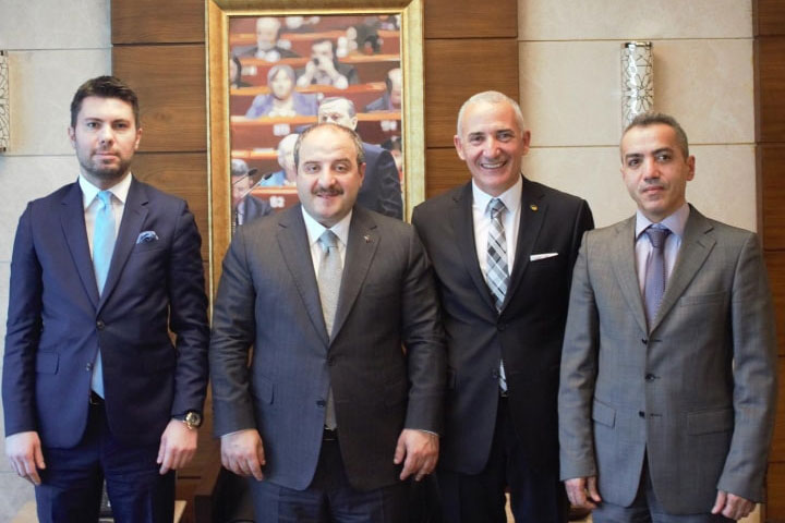 DESMUD delegation visit Turkey's Minister of Industry and Technology